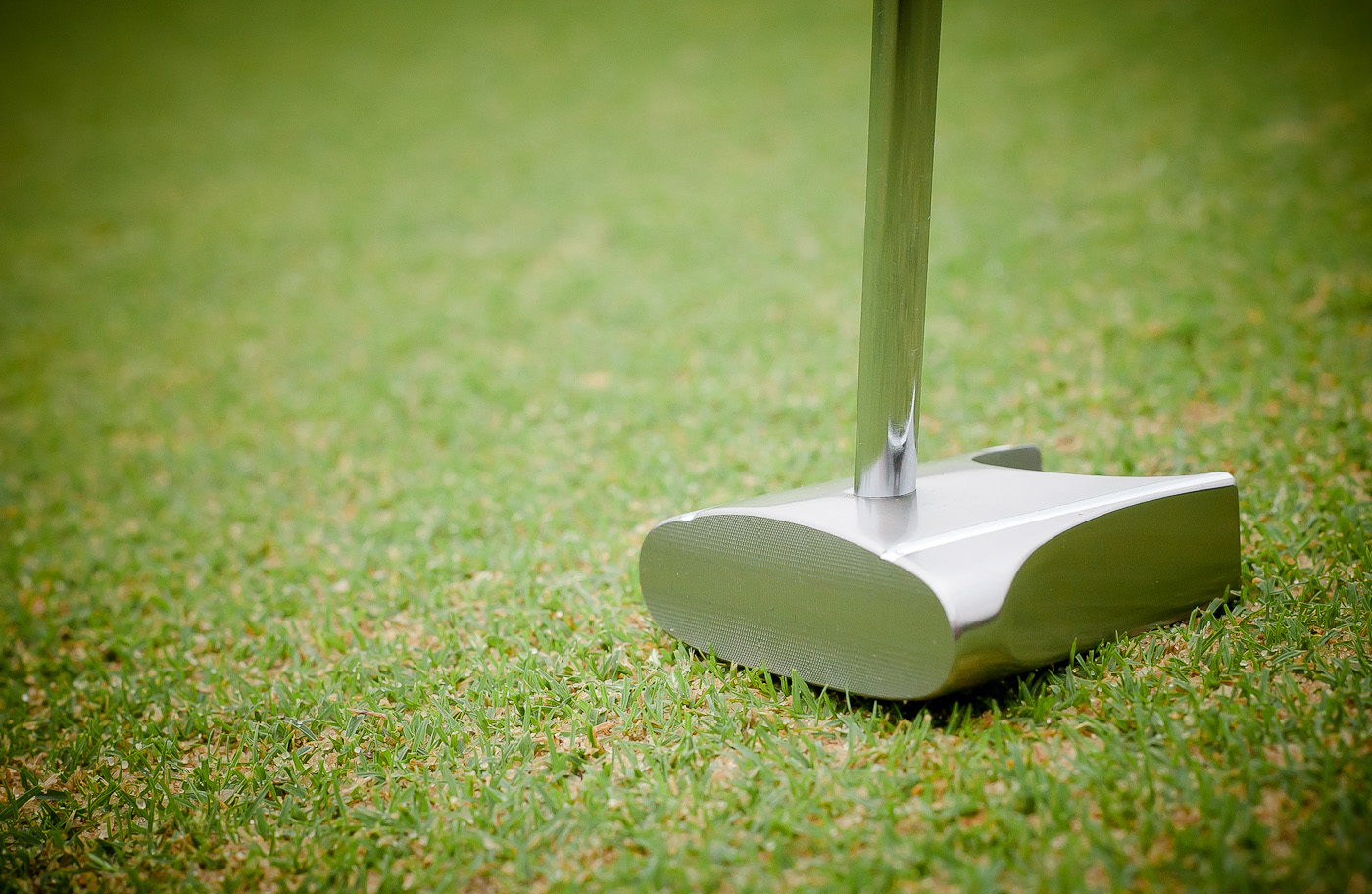 Side view of the GP putter