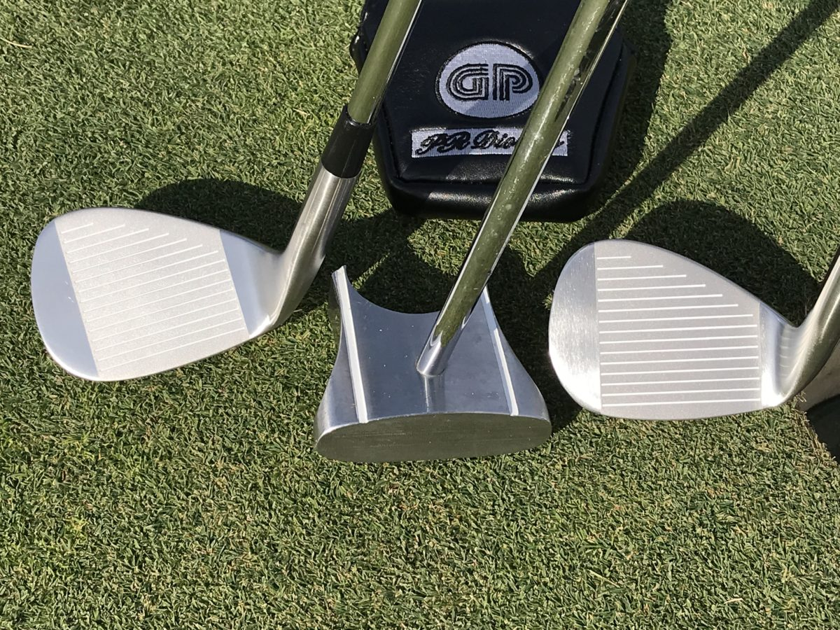 HBB 56 GP putter and the chipping golf club
