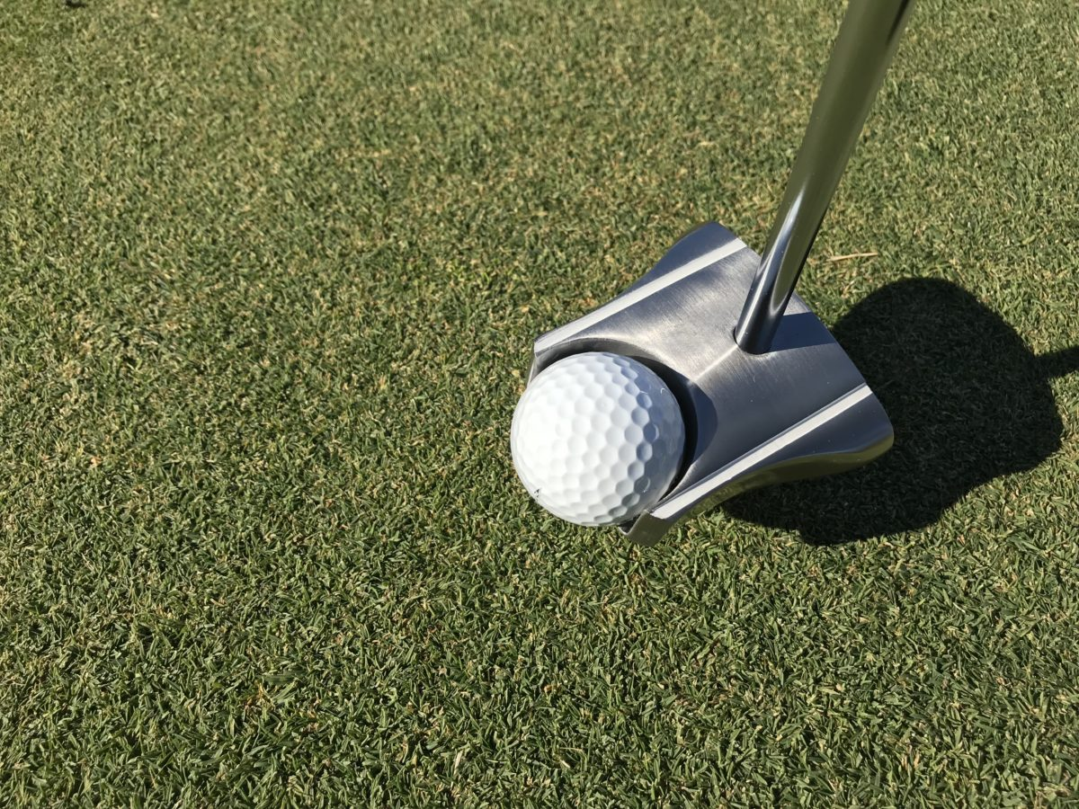 GP putter ball pickup feature