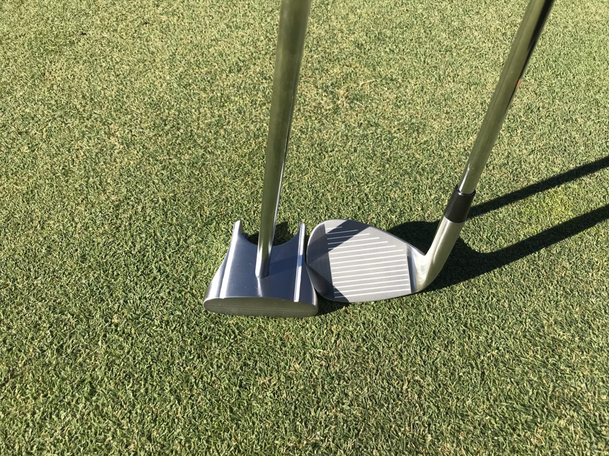 HBB 56 wedge and GP putter